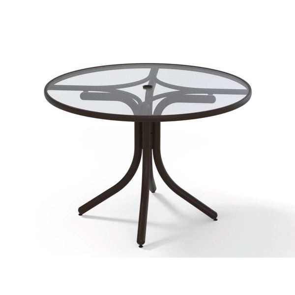 "Picture of Telescope 42"" Acrylic Round Dining Height Table w/ Umbrella Hole, 34 lbs."
