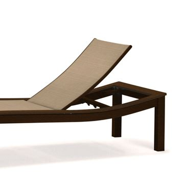 Picture of Telescope Bazza Armless Chaise Lounge Fabric Sling with Aluminum Frame, 60 lbs.