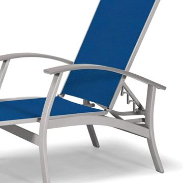 Picture of Telescope Belle Isle Four Position Lay-Flat Chaise with Aluminum Frame and MGP Accents, 34 lbs.