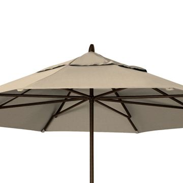 Picture of Telescope Casual 11' Powdered Aluminum Commercial Market Umbrella, 25 Lbs.