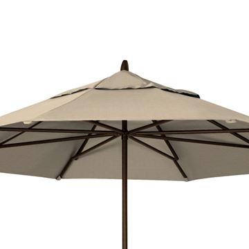 Picture of Telescope Casual 11' Powdered Aluminum Commercial Market Umbrella, 25 Lbs.