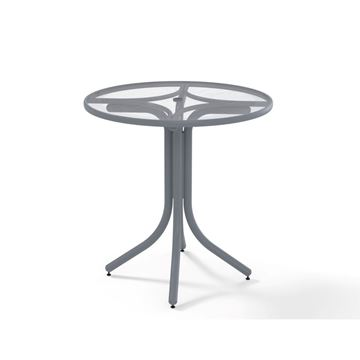 Picture of Telescope Counter Height Round Table 36 Inch Acrylic with Aluminum Frame