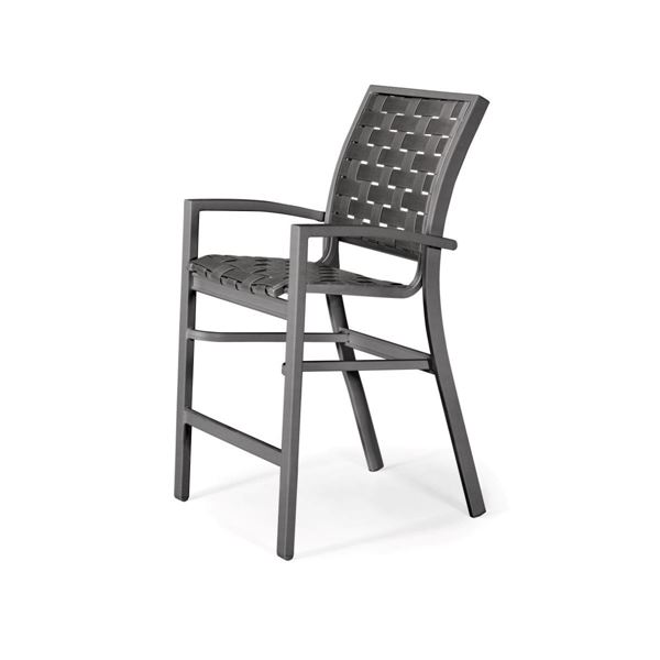 Telescope Kendall Cross Weave Strap Stacking Balcony Height Stacking Cafe Chair