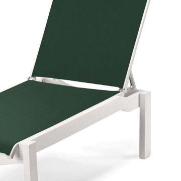 Telescope Leeward Armless Chaise Lounge Fabric Sling with Marine Grade Polymer Frame