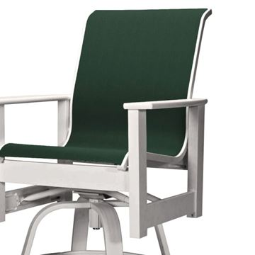 Telescope Leeward Bar Height Swivel Arm Chair Fabric Sling with Marine Grade Polymer Frame
