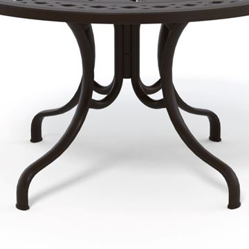 Picture of Telescope Round Deluxe Dining Table 48 Inch Cast Aluminum