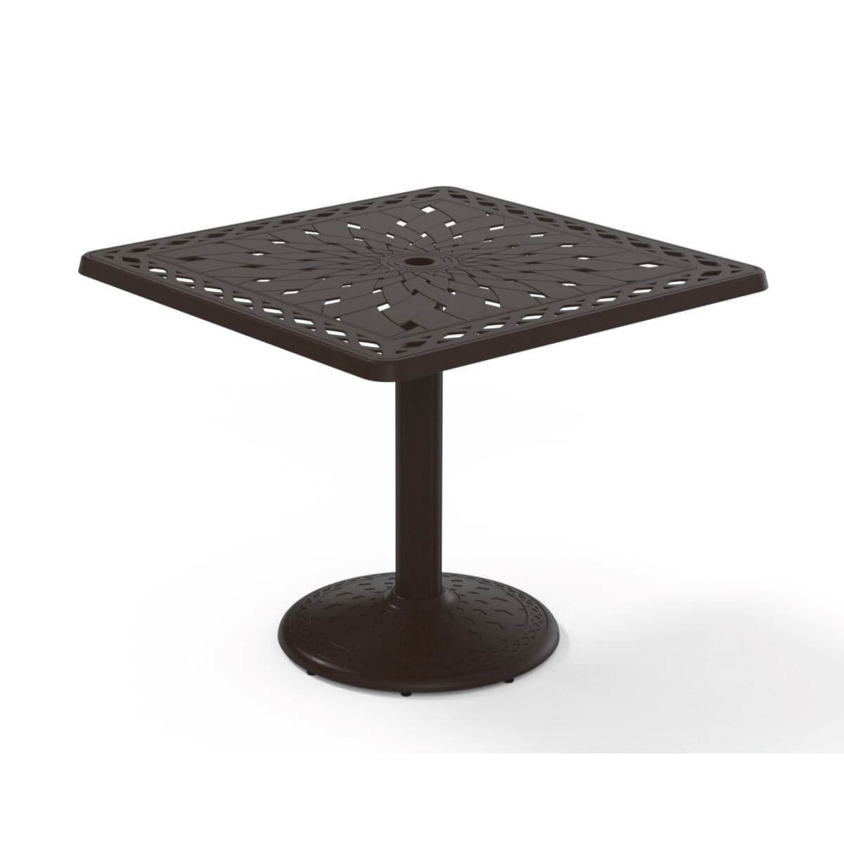 Fine Telescope Square Dining Table 36 Inch Cast Aluminum With Pedestal Base Interior Design Ideas Clesiryabchikinfo