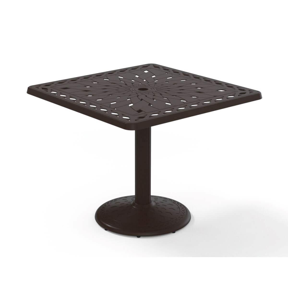 Pleasant Telescope Square Dining Table 36 Inch Cast Aluminum With Pedestal Base Interior Design Ideas Gresisoteloinfo