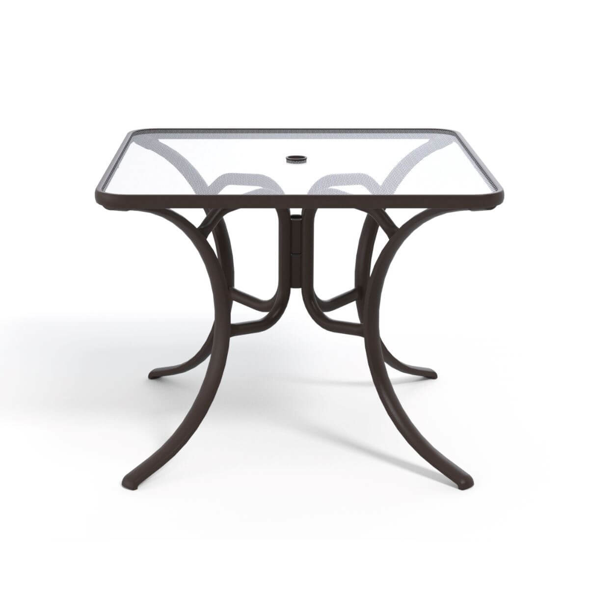 dining table 36 inch square glass aluminum frame  pool