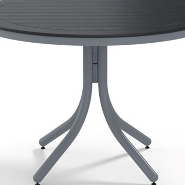 "Picture of Telescope 42"" Marine Grade Polymer Round Dining Height Table w/ Umbrella Hole, 34 lbs."
