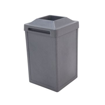 Picture of 24 Gallon Plastic Pool Deck Trash Can with Pitch-In Top, 280 lbs.
