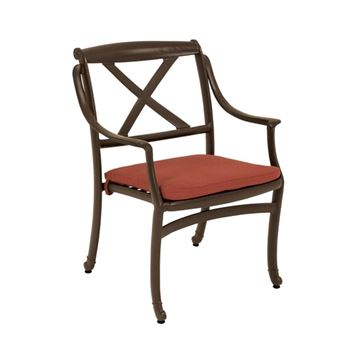 Tropitone BelMar Cast Aluminum Dining Chair for Pool