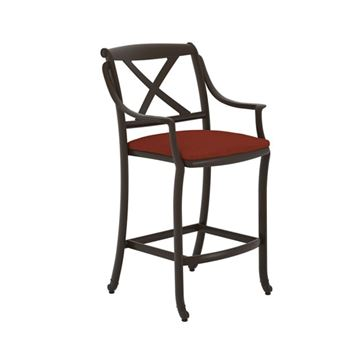 Picture of Tropitone BelMar Cast Aluminum Bar Stool for Pool Deck and Patios