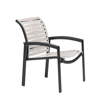 Picture of Tropitone Elance EZ Span Vinyl Strap Dining Arm Chair, Stackable, 13.5 lbs.