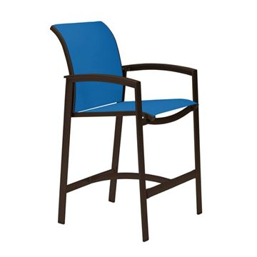 Picture of Tropitone Elance Relaxed Sling Bar Stool, 14.3 lbs.