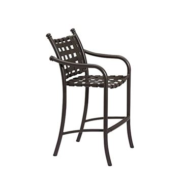 Picture of Tropitone La Scala Cross Strap Bar Stool, 14 lbs.