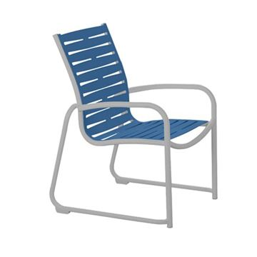 Picture of Tropitone Millennia EZ Span Vinyl Strap Dining Arm Chair, Sled Base Stackable, 10.5 lbs.