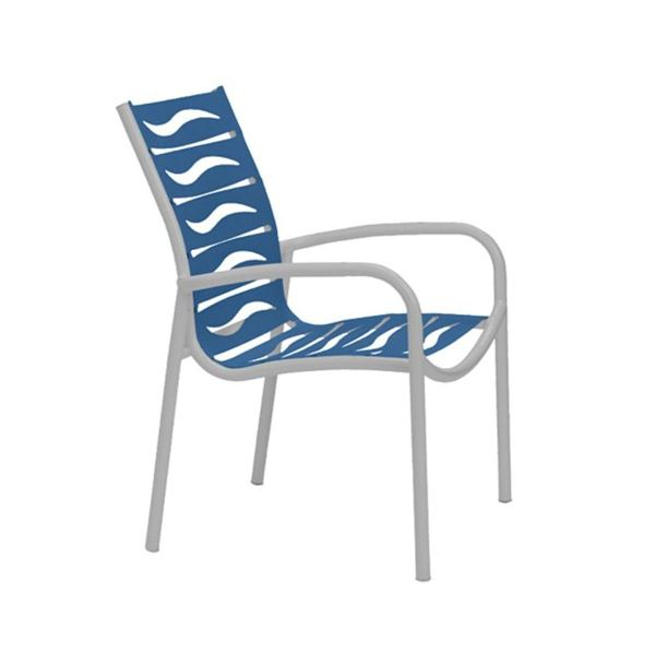 Picture of Tropitone Millennia EZ Span Vinyl Strap Dining Arm Chair, Stackable, 11 lbs.