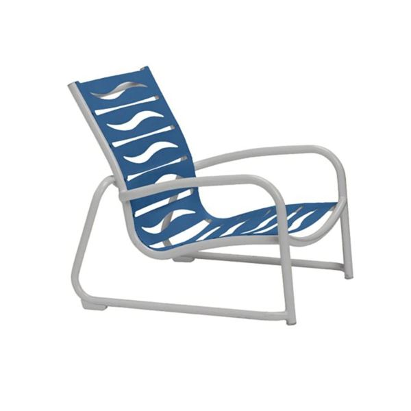 Picture of Tropitone Millennia EZ Span Vinyl Strap Sand Chair with Stackable Aluminum Sled Base, 10 lbs.