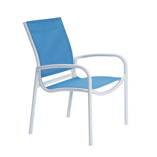 Picture of Tropitone Millennia Relaxed Sling Dining Chair with Stackable Aluminum Frame,  9.5 lbs.