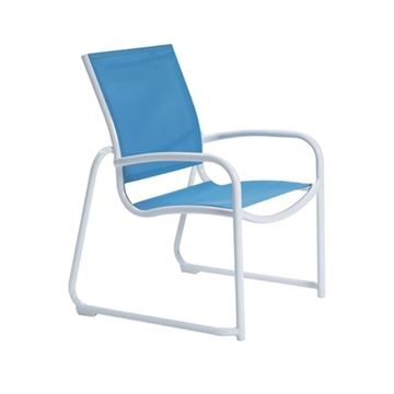 Picture of Tropitone Millennia Relaxed Sling Dining Chair with Stackable Aluminum Sled Base, 8.5 lbs.