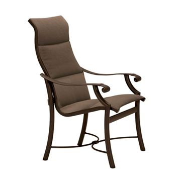 Picture of Tropitone Montreux Padded Sling High Back Dining Chair, 17 lbs.