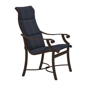 Tropitone Montreux Padded Sling High Back Dining Chair