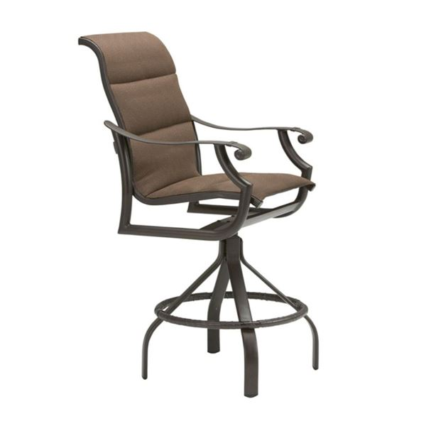Picture of Tropitone Montreux Padded Sling Swivel Bar Stool, 24.5 lbs.
