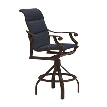 Tropitone Montreux Padded Sling Swivel Bar Stool