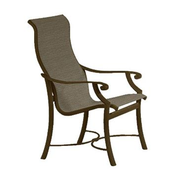 Picture of Tropitone Montreux Sling High Back Dining Chair, 14.5 lbs.