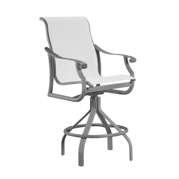 Picture of Tropitone Montreux Sling Swivel Bar Stool, 22.5 lbs.