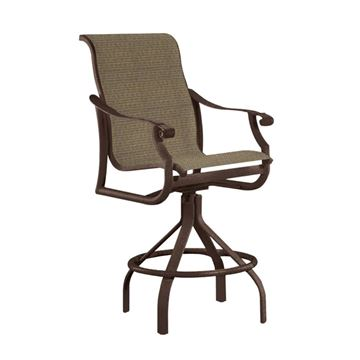 Tropitone Montreux Sling Swivel Bar Stool
