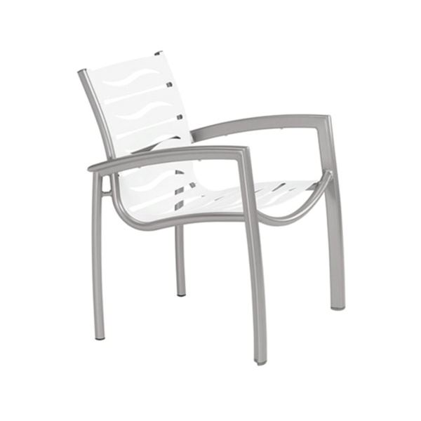 Picture of Tropitone South Beach EZ Span Vinyl Strap Dining Arm Chair, Stackable, 12 lbs.