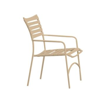 Picture of Tropitone Tropi-Kai Strap Pool Dining Chair with Arms, Stackable, 8 lbs.