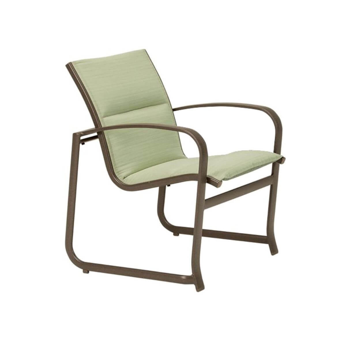Tropitone Spinnaker Padded Sling Patio Dining Chair