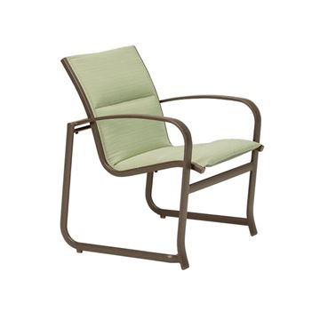 Picture of Tropitone Spinnaker Padded Sling Patio Dining Chair with Sled Base, Stackable, 13 lbs.