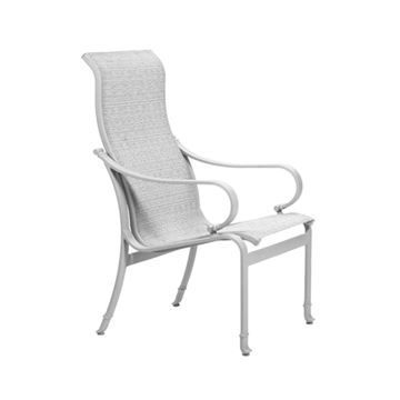 Picture of Tropitone Torino Sling Patio High Back Dining Chair, 14.5 lbs.