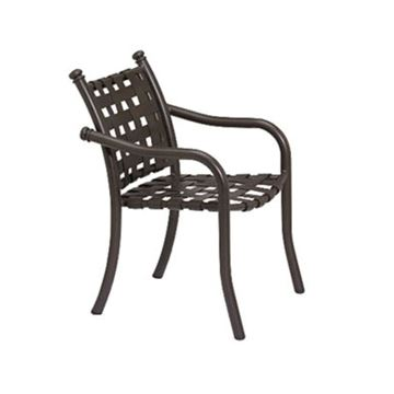 Picture of Tropitone La Scala Cross Strap Dining Chair, Stackable, 14 lbs.