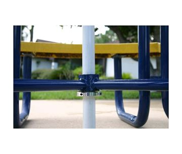 Picture of UBrace® Brace assembly for an umbrella with a 1 1/2 inch pole used with a heavy table