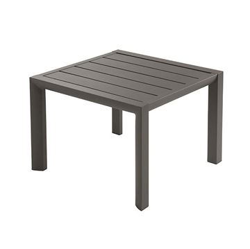 "20"" Square Sunset Aluminum Low Side Table - Fusion Bronze"