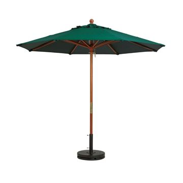 9 Foot Octagon Wooden Market Umbrella - Taupe