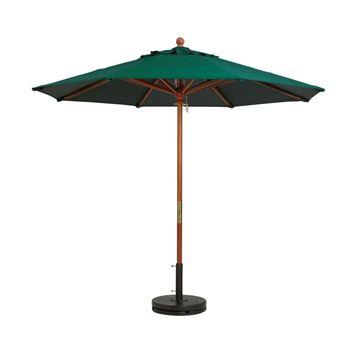 9 Foot Octagon Wooden Market Umbrella - Taupe