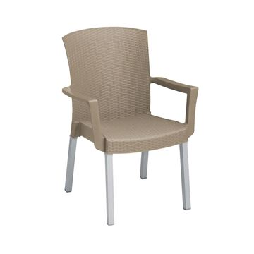 Havana Classic Plastic Resin Stackable Armchair - Bronze