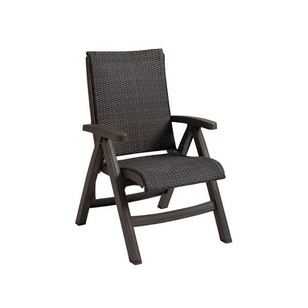Java All Weather Wicker Folding Chair - Espresso