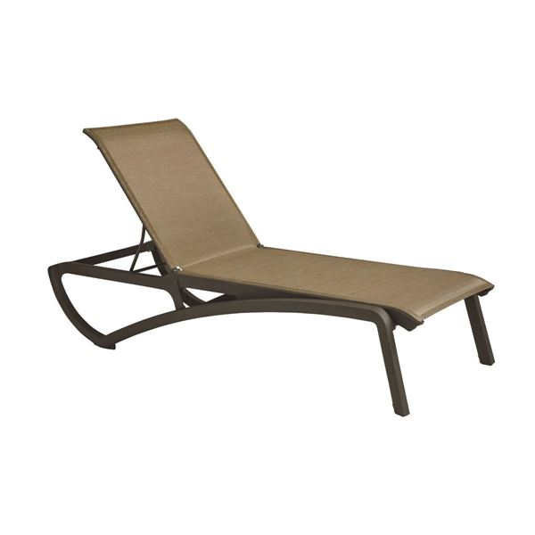 Sunset Plastic Resin Sling Chaise Lounge