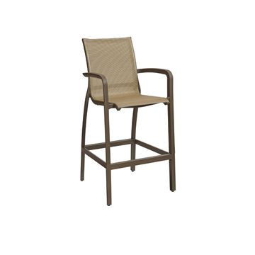 Sunset Sling Armed Barstool - Cognac