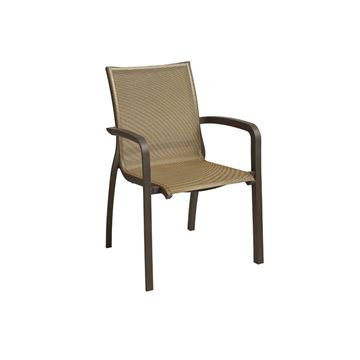 Sunset Sling Dining Arm Chair - Cognac / Fusion Bronze