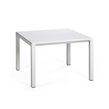 "Aria 24"" Square Plastic Resin Pool Side Table"
