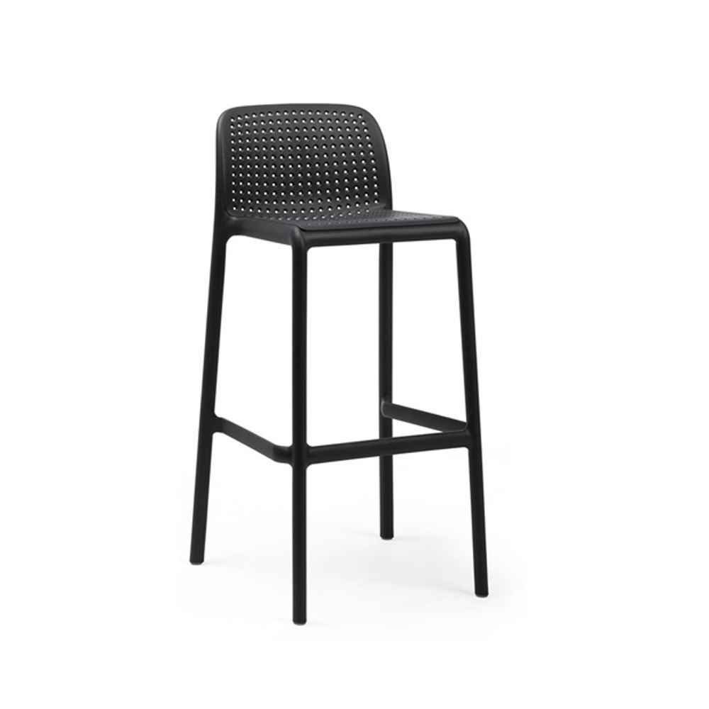 Lido Stackable Plastic Resin Pool Side Bar Stool