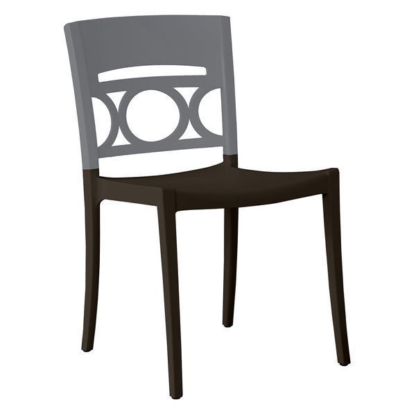 Moon Stacking Outdoor Dining Chair Air Modeled Plastic